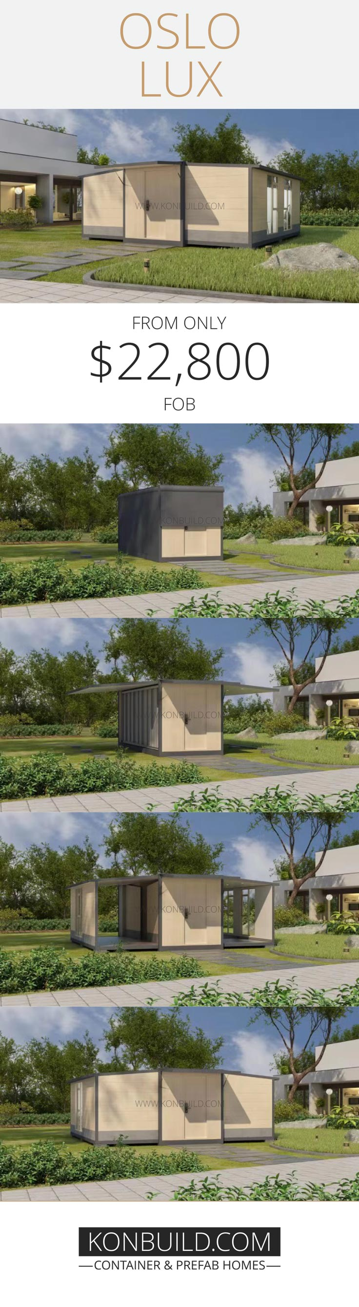 A foldable and expandable shipping container home.